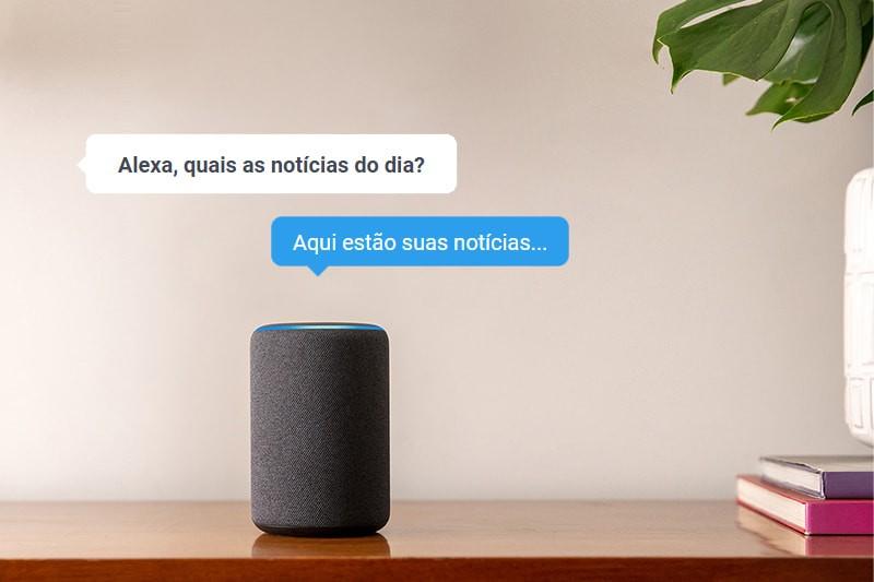 Seu portal de notícias na Alexa, a assistente de voz da Amazon